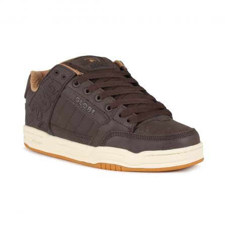 Globe Tilt Shoes - Brown Leather