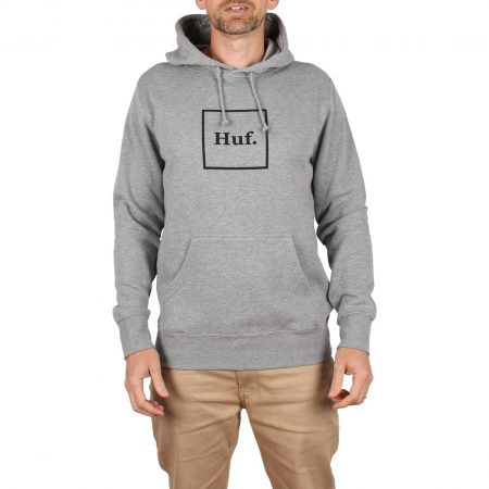 HUF Box Logo Pullover Hoodie - Heather Grey