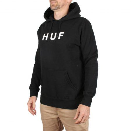 HUF Essentials OG Logo Pullover Hoodie - Black