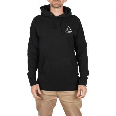 HUF Essentials Triple Triangle Pullover Hoodie - Black