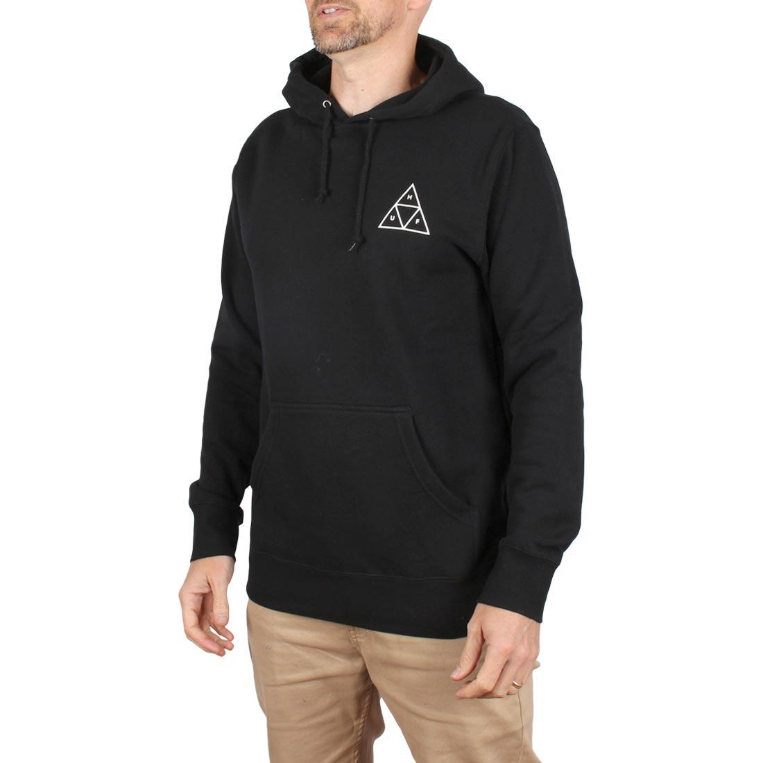 topowe marki kupuj bestsellery nowy styl HUF Essentials Triple Triangle Pullover Hoodie - Black