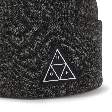 HUF Triple Triangle Beanie Hat - Black