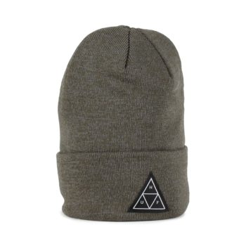 HUF Triple Triangle Beanie Hat - Deep Olive