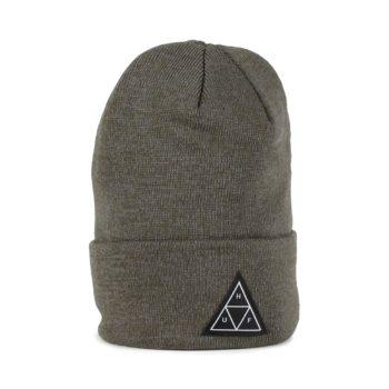 HUF Triple Triangle Beanie Hat - Deep Olive