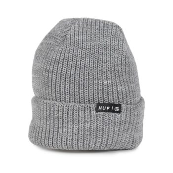 HUF Usual Cuffed Beanie Hat - Grey Heather