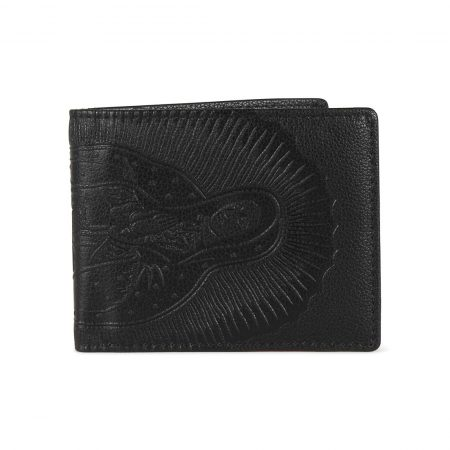 Santa Cruz Ghost Lady Embossed Wallet - Black Leather