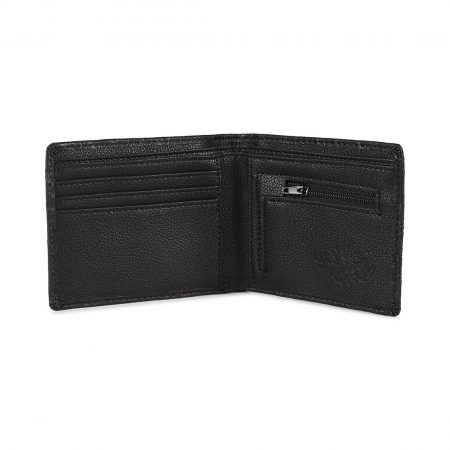 Santa Cruz Multi Hand Embossed Wallet - Black Leather
