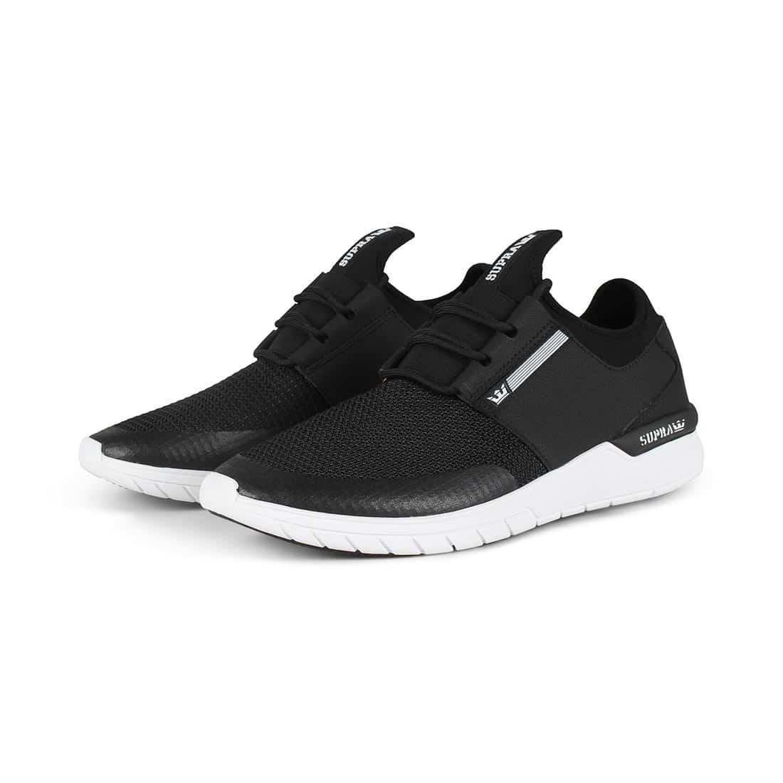 Supra Flow Run Shoes - Black / Black / White