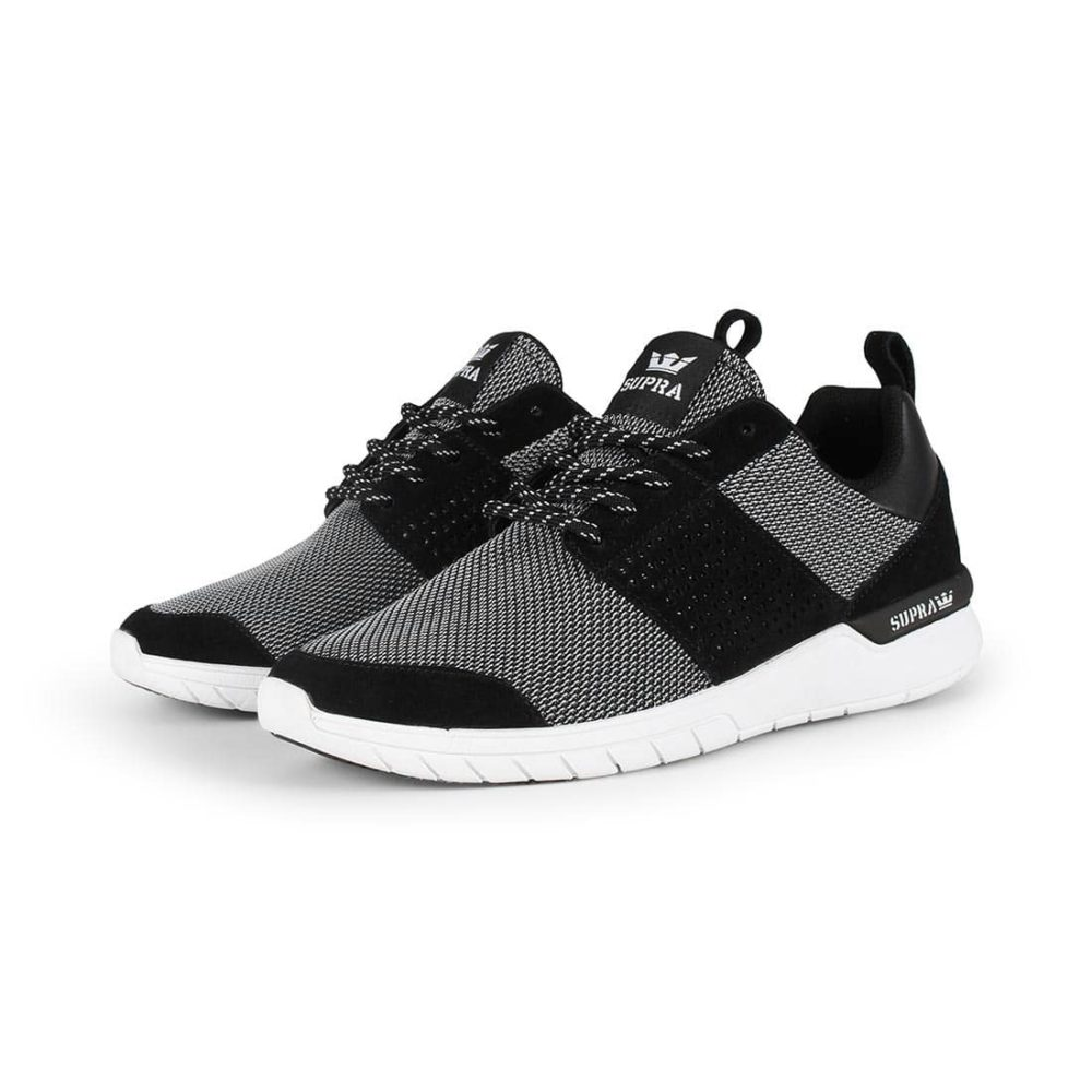 Supra Scissor Shoes - Black / White / White