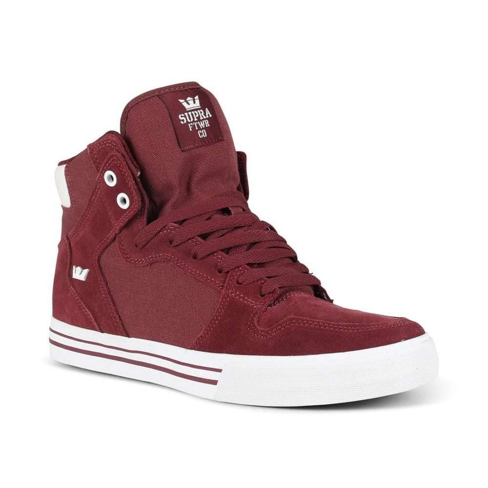 Supra Vaider High Top Shoes - Andorra / White