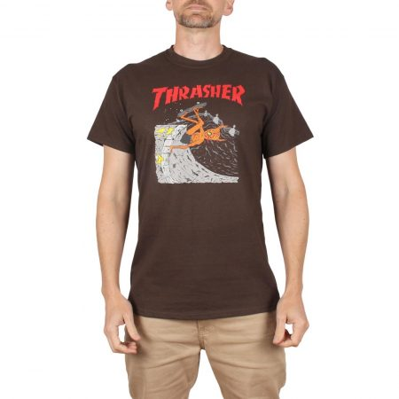 Thrasher Neckface Invert S/S T-Shirt - Brown