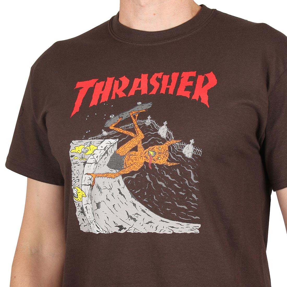 c0a1a8baa06c Thrasher Neckface Invert S/S T-Shirt - Brown