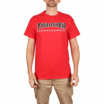 Thrasher Outlined S/S T-Shirt - Red
