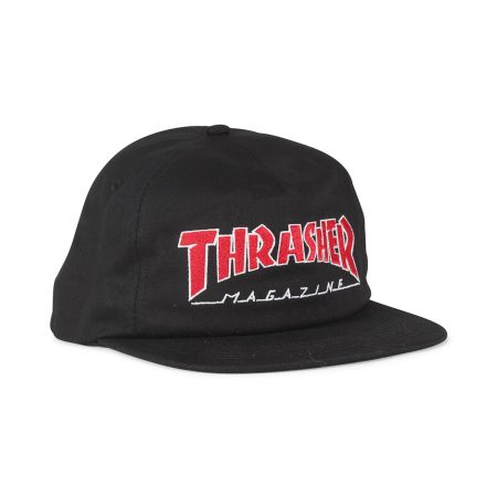 Thrasher Outlined Snapback Cap – Black