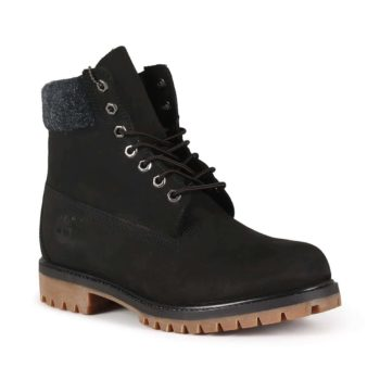 Timberland 6 Inch Premium Boot - Black Nubuck / Hairy Suede