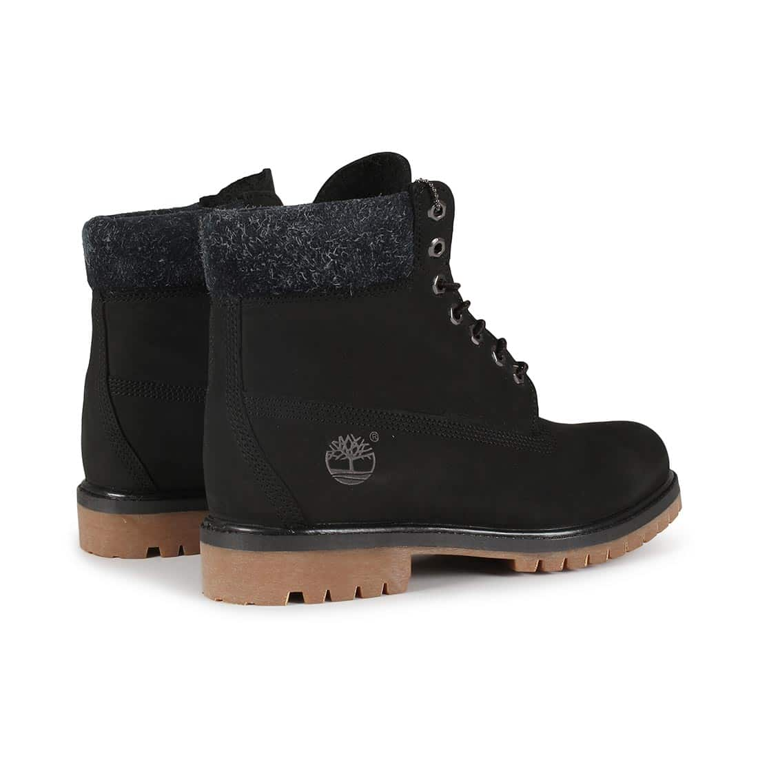 f38a7147a938 Timberland 6 Inch Premium Boot - Black Nubuck   Hairy Suede