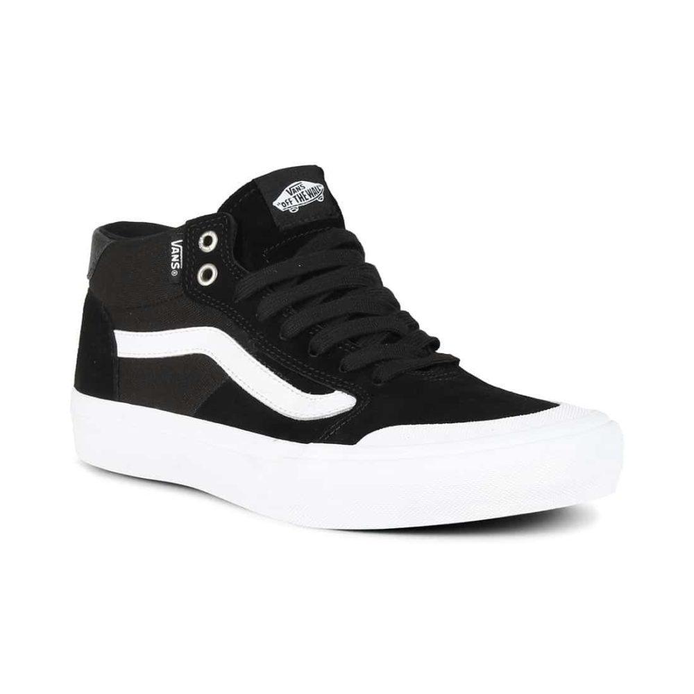 58a43284cb Vans Style 112 Mid Pro Skate Shoes - Black   White