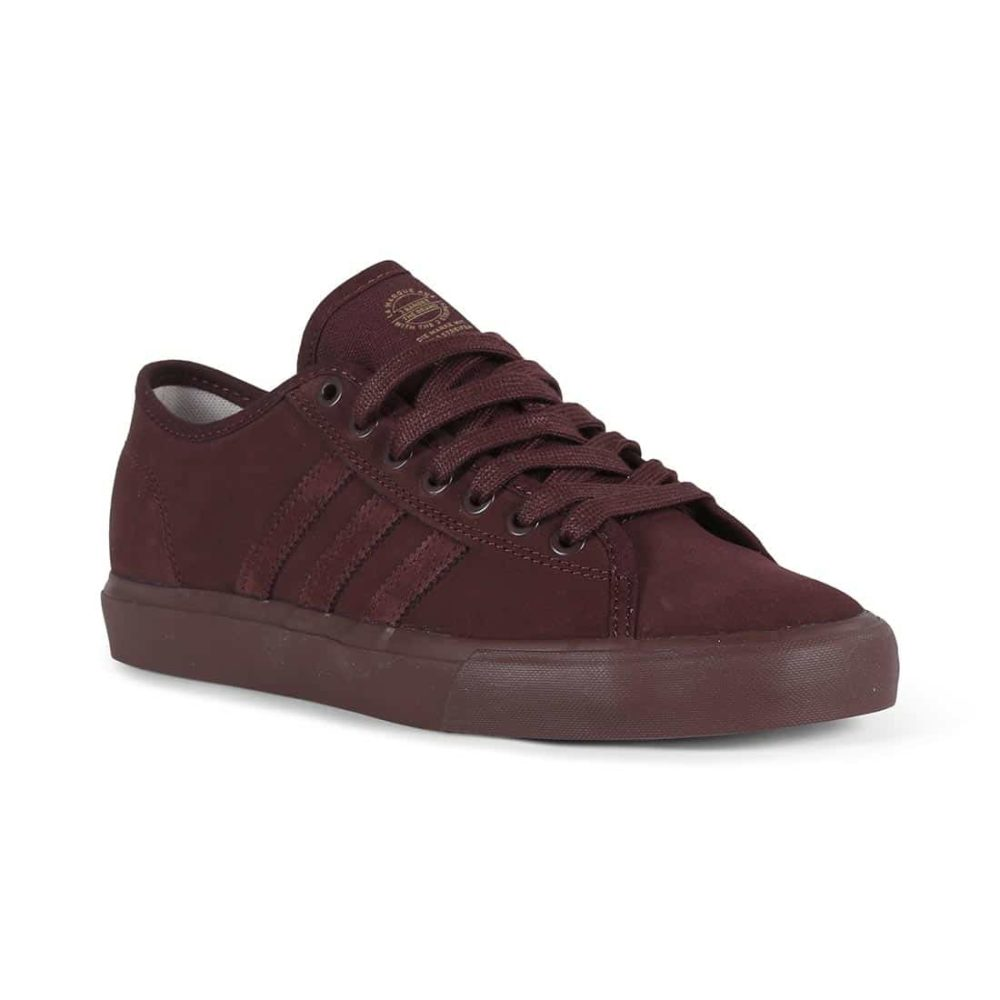 00aca48456 Adidas Matchcourt RX Shoes - Night Red   Hi-Res Red   Gold Met