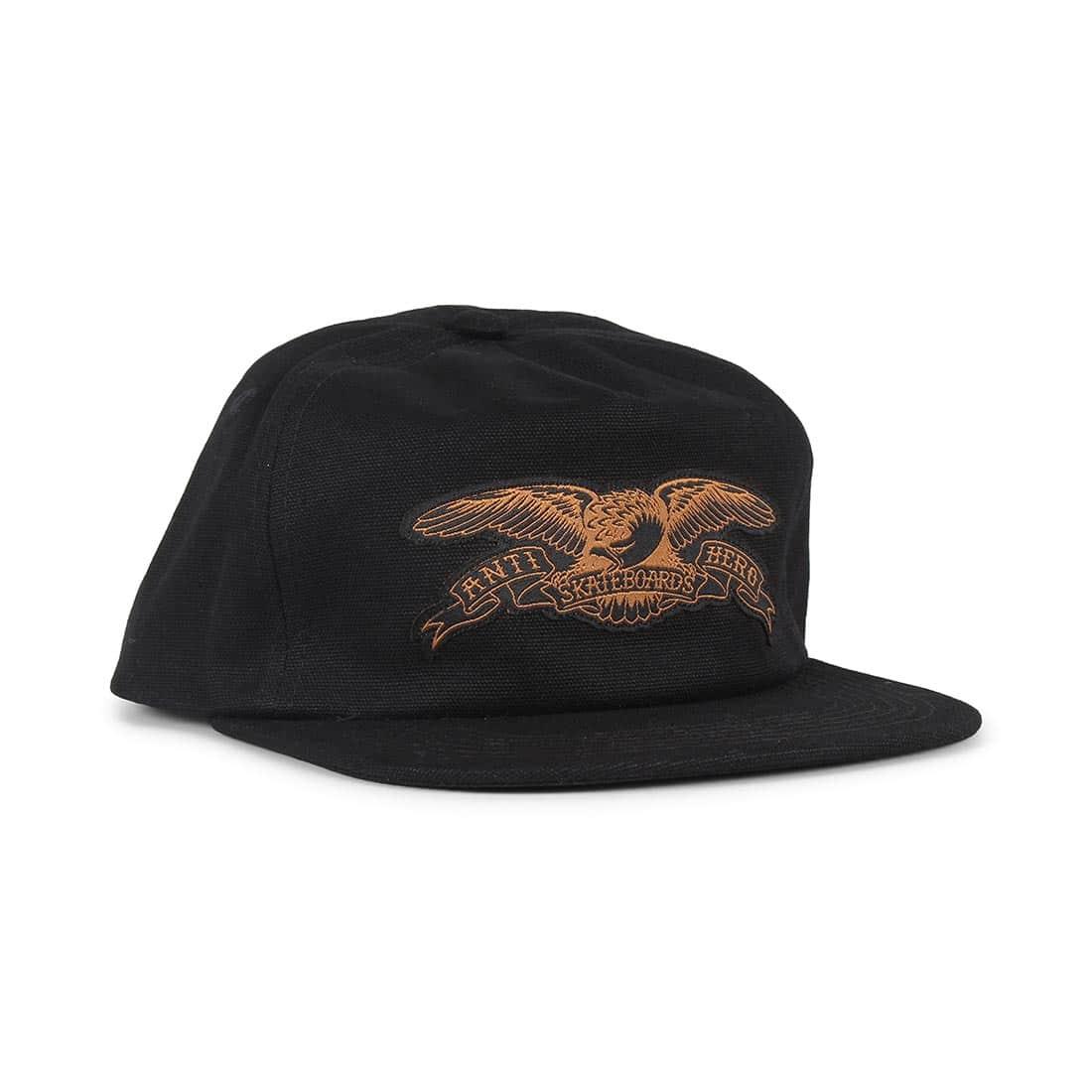 Anti Hero Basic Eagle Patch Snapback Cap - Black / Brown