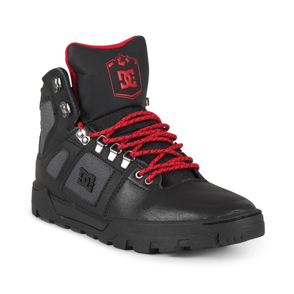 DC Shoes Pure High Top WR Boot - Black / Grey / Red