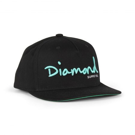 Diamond Supply Co OG Script Snapback Hat - Black