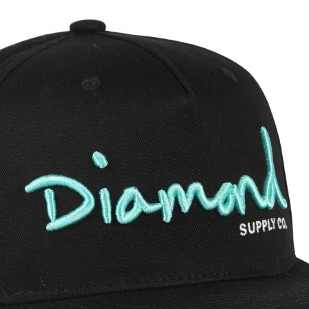 Diamond Supply Co OG Script Snapback Hat - Black