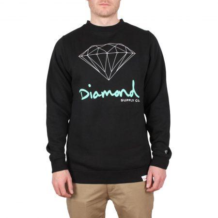 Diamond Supply Co OG Sign Crew Sweater - Black