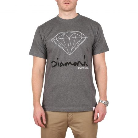 Diamond Supply Co OG Sign S/S T-Shirt - Heather Grey