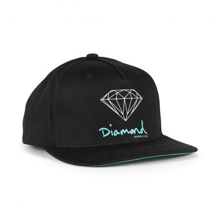 Diamond Supply Co OG Sign Snapback Hat - Black
