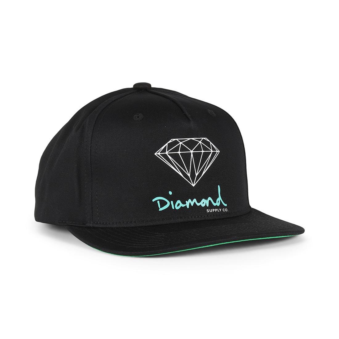 50b0f95d9e6347 Diamond Supply Co OG Sign Snapback Hat – Black