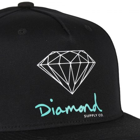 Diamond Supply Co OG Sign Snapback Hat - Black
