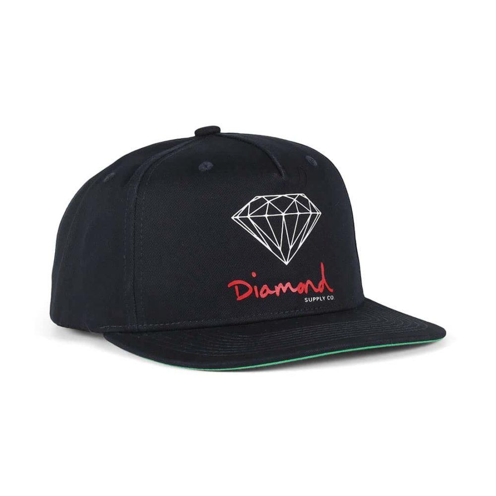 Diamond Supply Co OG Sign Snapback Hat - Navy