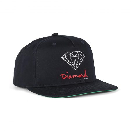 Diamond Supply Co OG Sign Snapback Hat - Navy