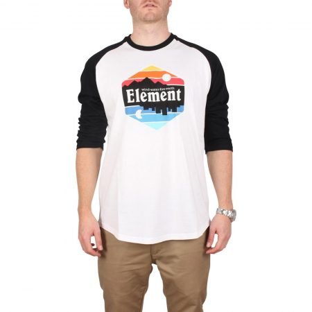 Element Dusk Raglan 3/4 Sleeve T-Shirt - Optic White