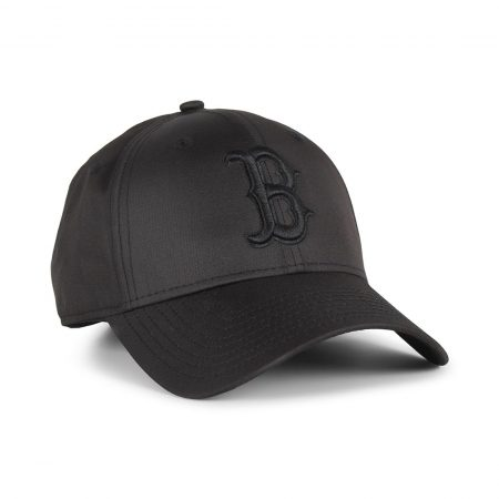 New Era Boston Redsocks Ripstop 9Forty Cap - Black / Black