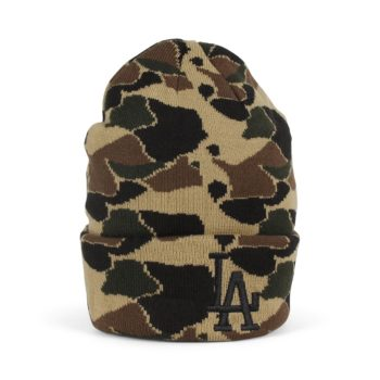 New Era LA Dodgers Camo Cuff Knit Beanie - Desert Camo / Black