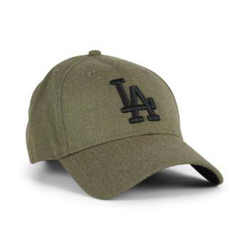 New Era LA Dodgers Heather Essential 9Forty Cap - Army / Black