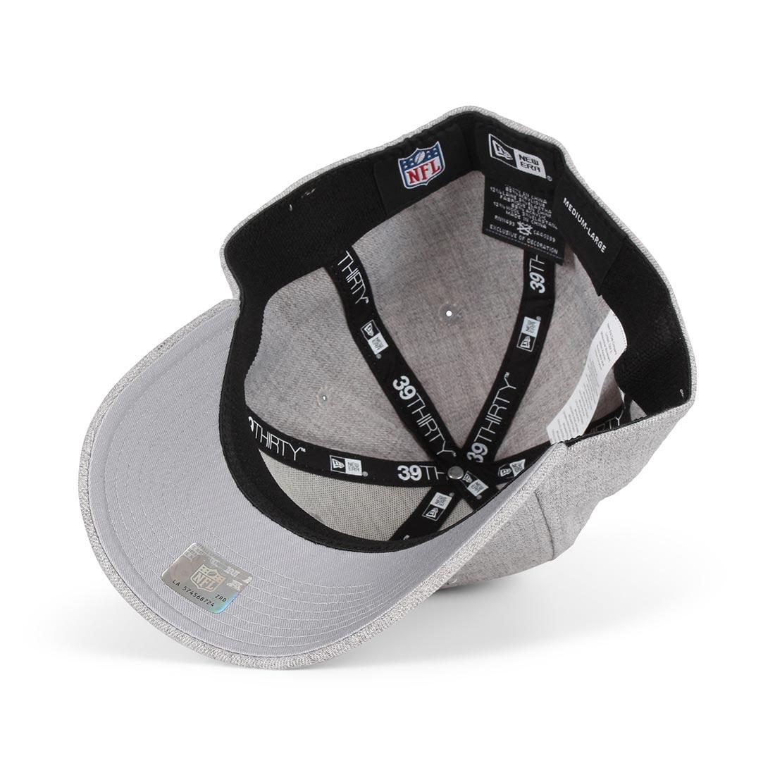 New Era NE Patriots Heather Essential 39Thirty Cap - Grey / Black