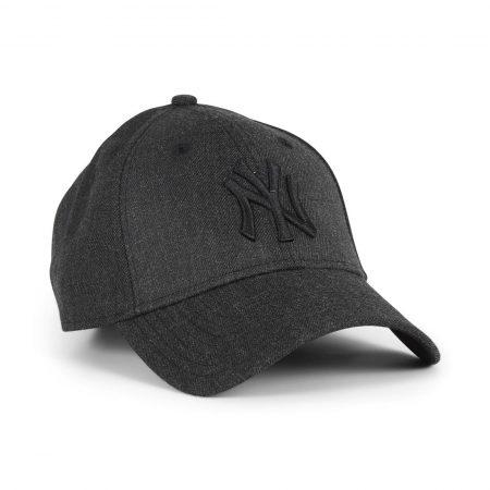New Era NY Yankees Heather Essential 9Forty Cap - Black / Black
