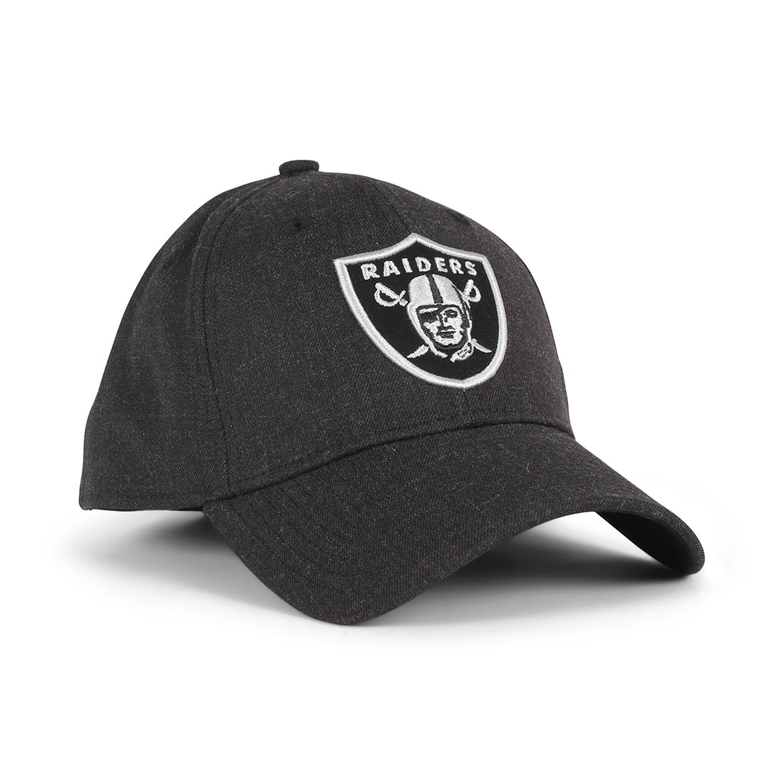 New Era Oakland Raiders Heather Essential 39Thirty Cap - Black / Black