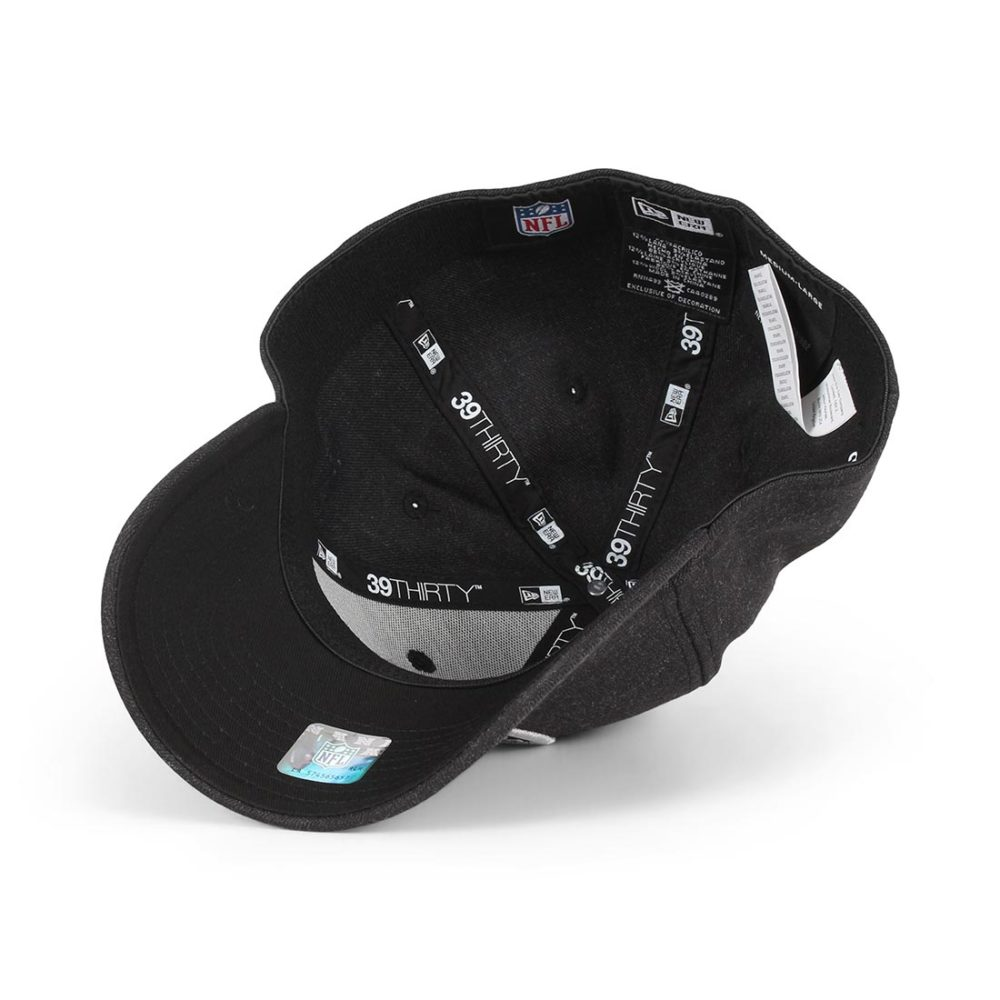 New-Era-Oakland-Raiders-Heather-Essential-39Thirty-Cap-Black-Black-04