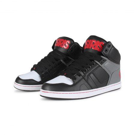 Osiris NYC 83 CLK High Top Shoes - Black / Grey / Red