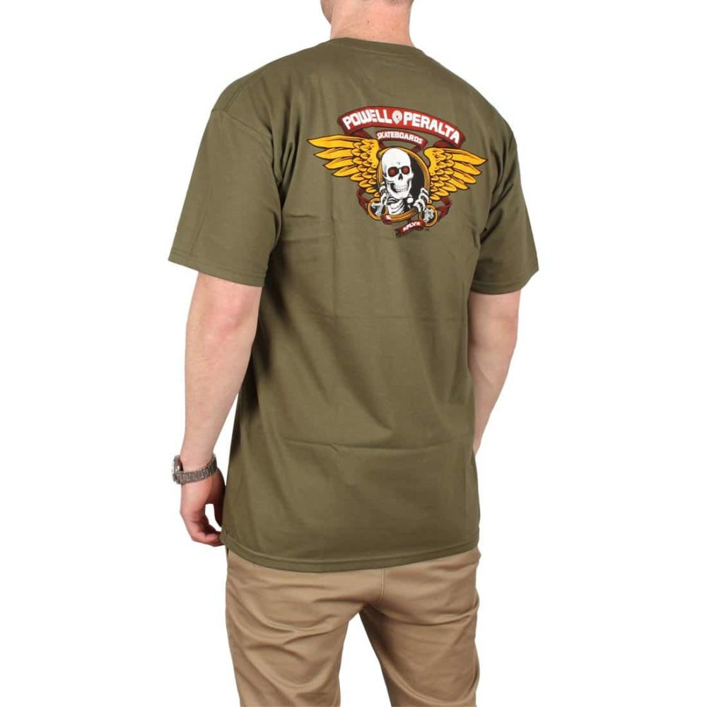 Powell Peralta Winged Ripper S/S T-Shirt - Military Green