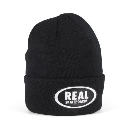 Real Oval Beanie - Black / White