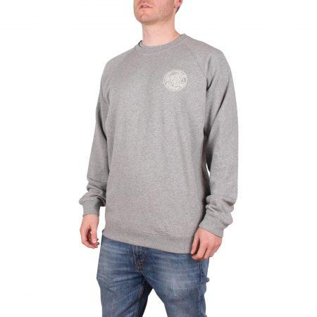 Santa Cruz Backhander Crew Sweater - Dark Heather