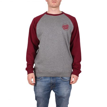 Santa Cruz Outline Crew Sweater - Port / Dark Heather