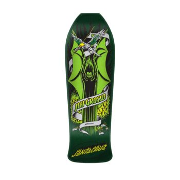 Santa Cruz Skateboards Grosso Demon Reissue Deck – Green / Metallic