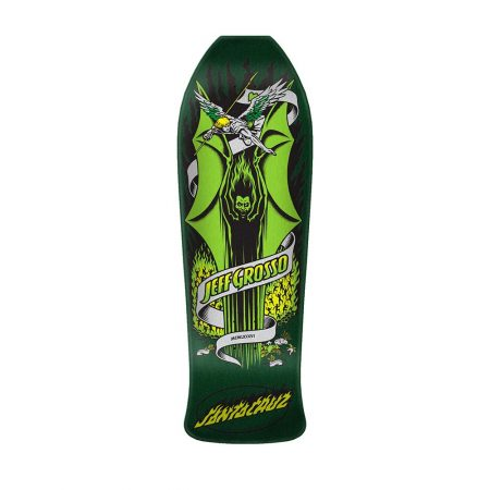 Santa Cruz Skateboards Grosso Demon Reissue Deck – Green / Metallic