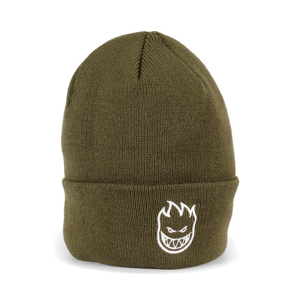de9ad79ca0f01 Spitfire Bighead Standard Cuff Beanie Hat - Olive   White