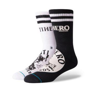 Stance Anti Hero Socks - Black